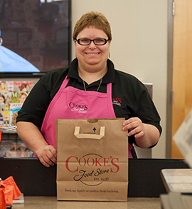 Jessica M., Cooke's Food Store